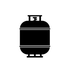 Black propane gas tank icon isolated on white vector