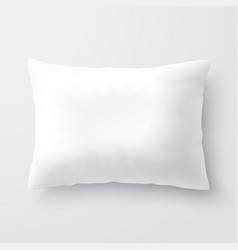 Blank white rectangular pillow cushion vector