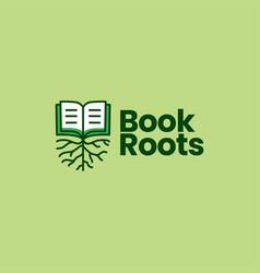 Book root logo icon vector
