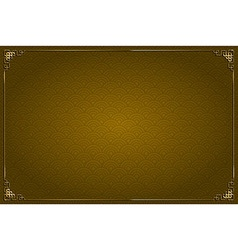 Brown chinese background and gold decoration vector