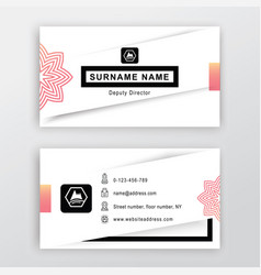 business card white background with logo vector image