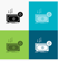 business cost cut expense finance money icon over vector image