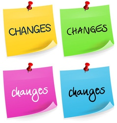 Changes Sticky Note vector