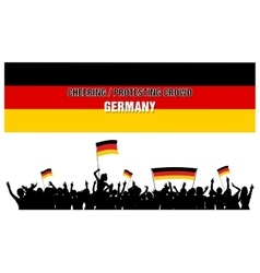 Cheering or Protesting Crowd Germany vector image