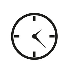 clock icon in flat design on white background vector image