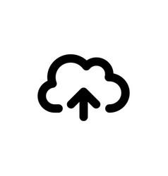 cloud upload line web or mobile interface vector image