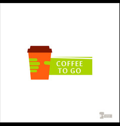coffee logo for a coffee shop cup glass with vector image