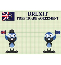 Comical United Kingdom Trade Delegation vector image