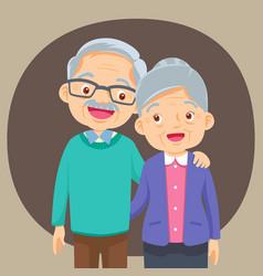 Couple older people vector