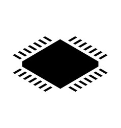 cpu processor isometric icon on white background vector image