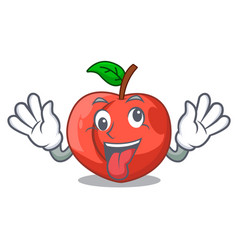 Crazy fruit of nectarine isolated on mascot vector