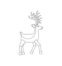 deer coloring page vector image