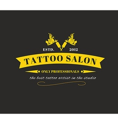 Design of a logo with a tattoo machines vector image