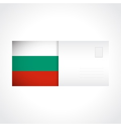 Envelope with Bulgarian flag card vector image