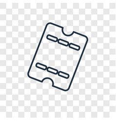 eticket concept linear icon isolated on vector image