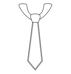 Executive tie fashion vector