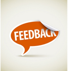 feedback speech bubble vector image