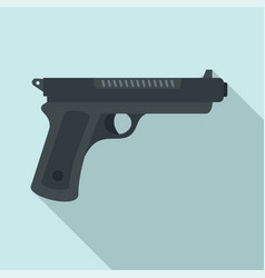 gangster pistol icon flat style vector image