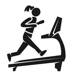 girl on treadmill icon simple style vector image