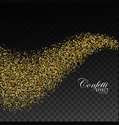 Glittering golden stream of sparkles vector