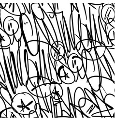 graffiti tags seamless pattern print design vector image