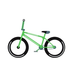 Green bicycle isolated vector
