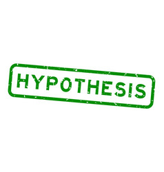 Grunge green hypothesis word square rubber seal vector