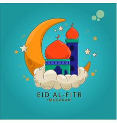 Happy eid for all muslims in world vector