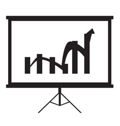 isolated business graph vector image vector image