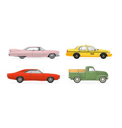Isolated cars set vector