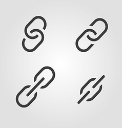 Links symbols icons set vector image