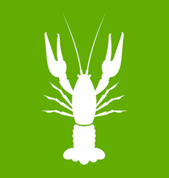 lobster icon green vector image