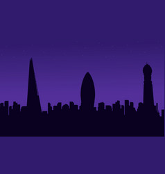 london city building scenery silhouettes vector image