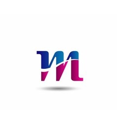 M company logo and symbol Design vector image