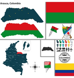 Map of Arauca vector