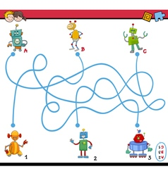 maze puzzle activity for kids vector image
