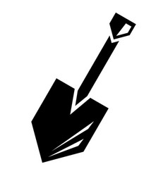 metal shovel icon simple style vector image