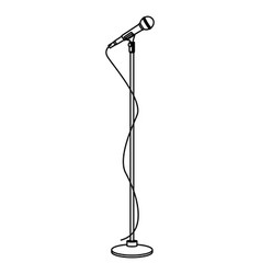 Microphone on stand vector