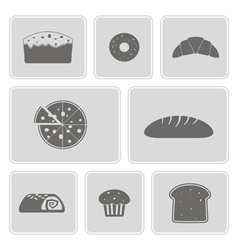 monochrome icons with baking vector image