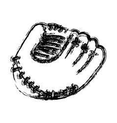 monochrome sketch of baseball glove vector image