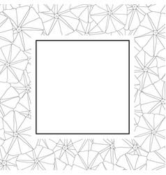 Morning glory flower outline banner card vector