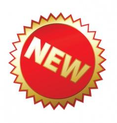 new sticker vector image