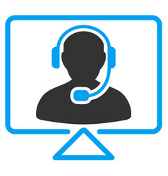 Online support flat icon vector