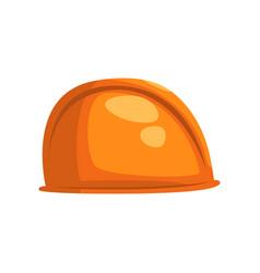 orange hard hat helmet geological or mining vector image
