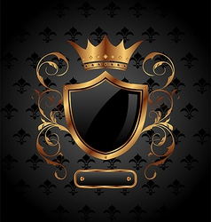 ornate heraldic shield vector image
