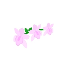 Pink orchid icon isometric 3d style vector image
