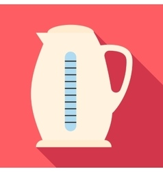 Plastic electric kettle icon flat style vector image