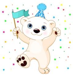 Polar Bear Party vector image