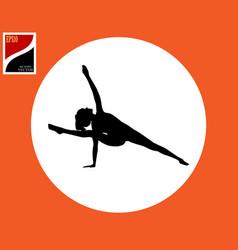 Pose asana yoga woman vector