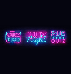 Quiz night collection announcement poster vector